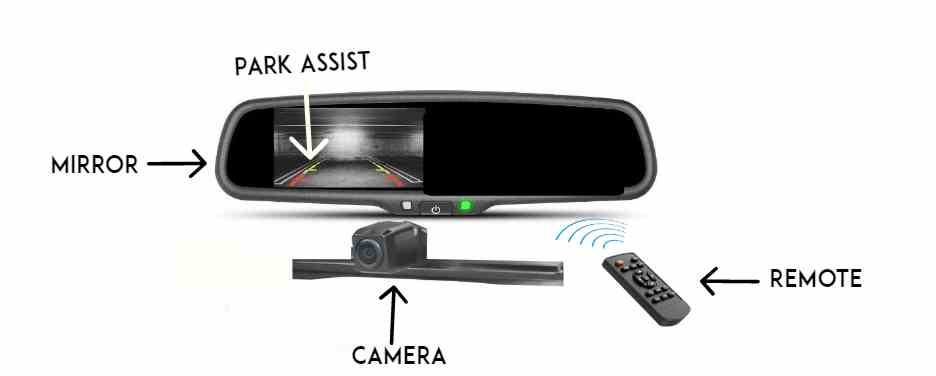 imirror reverse parking camera with display
